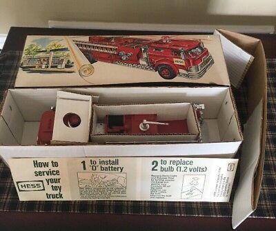 1970s HESS FIRE ENGINE TRUCK NEW IN ORIGINAL BOX