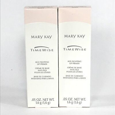 MARY KAY Timewise Time Wise Age Fighting Lip Primer Creme .05 Oz Lot Of 2