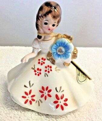 Vintage Josef Originals December Zircon Birthstone Girl with Original Tag
