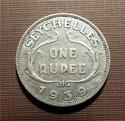 Seychelles, 1939 .500 Ar Rupee - George Vi - Royal Mint 1 Yr. Only.  Km#4   Tocm