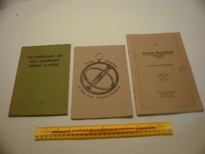 Book 335 – Lot of 3 watch and clock books