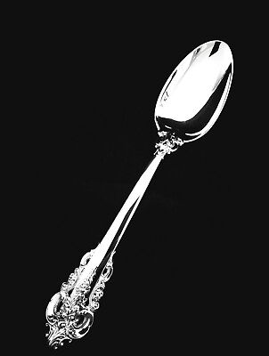 """Wallace Sterling Silver Grand Baroque Large Serving Spoon  8 3/4""""  MINT!"""