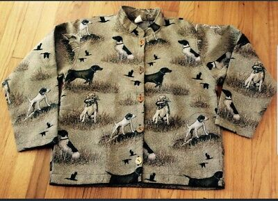German Shorthaired Pointer Dog Tapestry Ladies Jacket Yr choice small,  med, lg