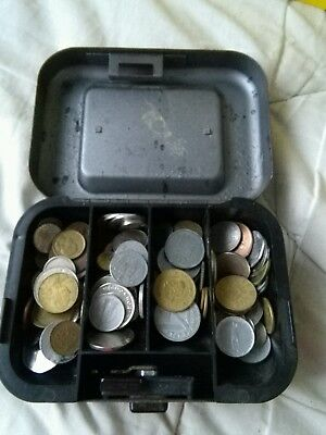 Job Lot Of Coins mostly foreign including cash box