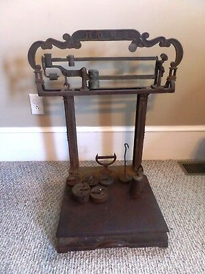 Antique Howe Countertop Scale Extra Weights