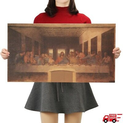 The Last Supper Poster Leonardo Da Vinci Famous Painting Jesus Christ Free Ship