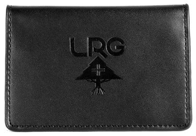 Lrg Bi Fold Card Holder Leather Wallet Black Lifted Research Group