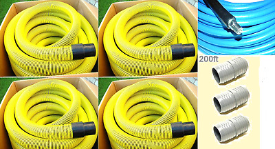 "Carpet Cleaning 2"" Truck-Mount 200' Vacuum and Solution Hoses Pack"