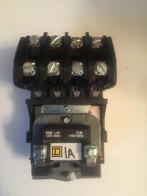 SQUARE D LIGHTING CONTACTOR 120V COIL 8903 L040 1 year warranty