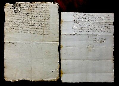 Collection of Old Letter Manuscripts 1663 and 1811