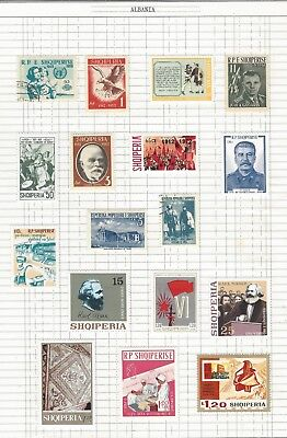 Albania  Nice Mix of Mounted Mint & Used Stamps-Unchecked Two Scans