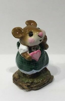 Wee Forest Folk Sweetheart PLAID Green STORE SPECIAL  1/100 What A Cutie!!!