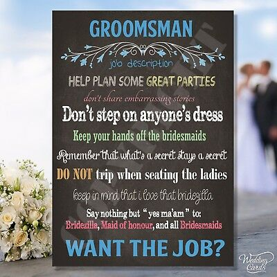Personalised Will you be my Groomsman Usher Best Man Father Mother Bride Groom