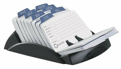 Rolodex Petite Open Tray Card File Holds 250 Cards 2.25 x 4 Inches Black