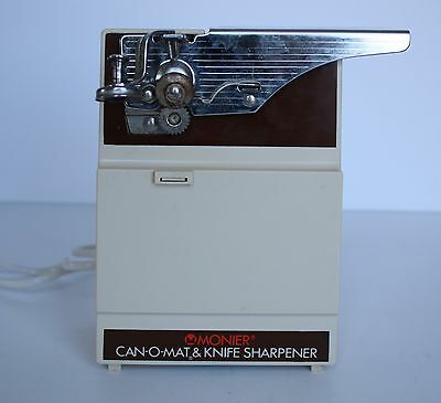 Retro Monier Electric Can Opener and Knife Sharpener  Can-O-Mat  GWO
