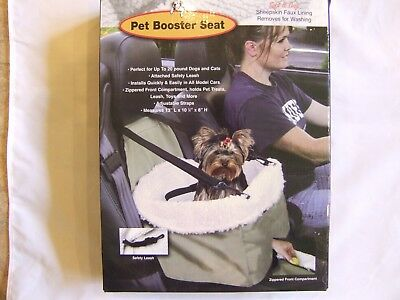 Pet Booster Seat >> Pet Booster Seat Car Seat Sheepskin Lining Size M Up To 20 Lbs New