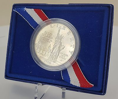 United States Commemorative Lady Liberty Ellis Island Silver Coin (1886-1986)