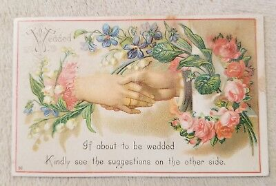 Antique Victorian Trade Card Mermod & Jaccard Jewelry Co wedding rings