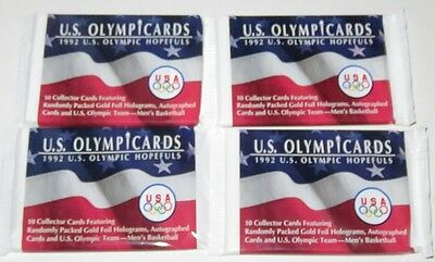 1992 Impel US Olympicards Hopefuls 4-Pack Lot - Brand New from Box Look for MJ