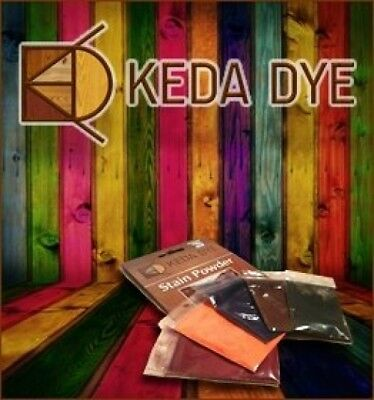 Keda Wood Dye Aniline 5 Color Kit Wood Stain Powder Red Black Yellow Brown Blue