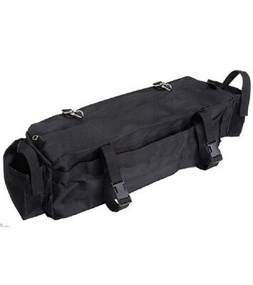 Cantle Bag Plus - Nylon with Zipper & 2 additional pockets - Brown NEW - IMP USA