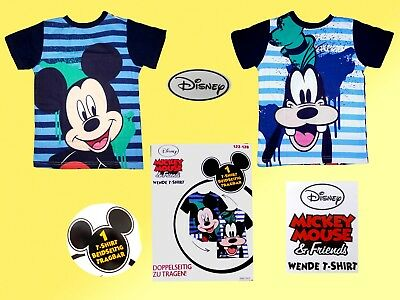 Disney Mickey Mouse Childrens Shirt wendeshirt T Double Pattern Size 98-128 NEW