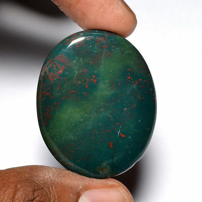 Cts. 49.40 Natural Fantastic Red Spot Bloodstone Cabochon Oval Cab Loose Gemston