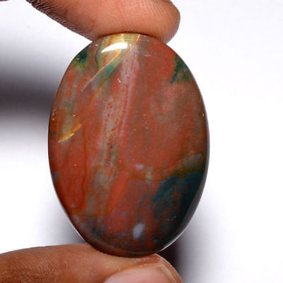 Cts. 40.15 Natural Designer Bloodstone Cabochon Oval Cab Exclusive Gemstone