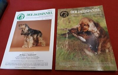 2x Jagd Spaniel Hund Zucht Breed Dog Schützen Rasse Foxhound Klub Club Cocker