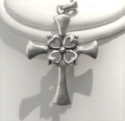 Vintage Sterling Silver Cross With Very Unigue Design 925 Sterling Free Shipping