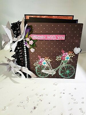 Handmade beautiful memory book, photo album, scrapbook