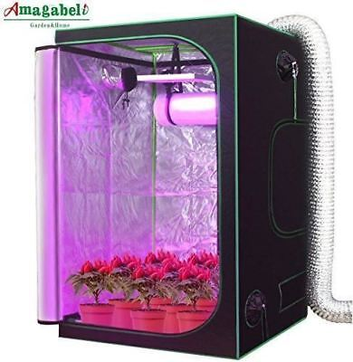 "Amagabeli 4x4 Hydroponic Grow Tent for Indoor Plant Growing 48""x48""x80"" with Rem"