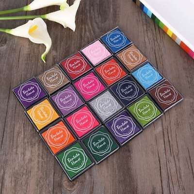 20 Pcs Giant Stamp Pads Ink Pads Premium Non-toxic Ink Pad Set for Scrapbooking