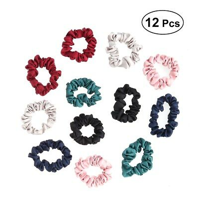 Hair Band 12 Fabric Satin Scrunchies Hair Accessories Ponytail Holder for Female
