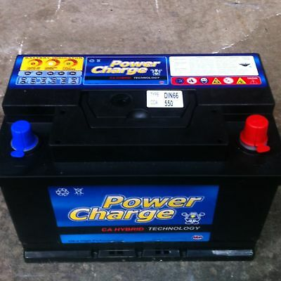 Car Battery Din66 Power Charge 550Cca Cars Trucks Batterys Forklift New