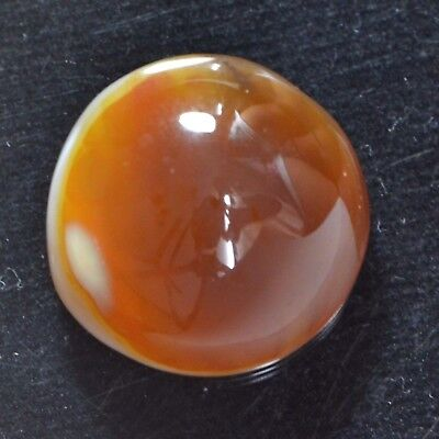 Cts. 13.10 Natural Attractive Carnelian Agate Cabochon Round Cab Loose Gemstone