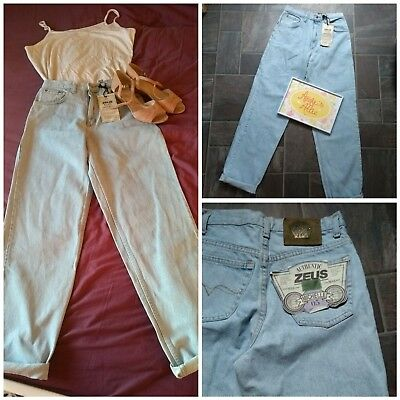 """Vintage 90s stonewash mom jeans. Relaxed fit. UK 10/12 L32"""". Grunge. BNWT"""