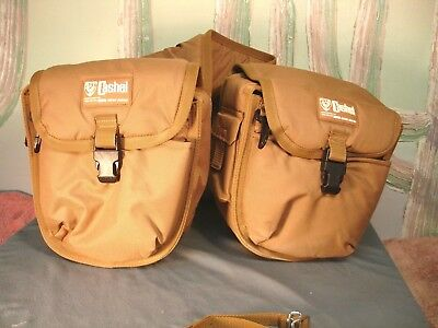 Cashel Move Ahead Canvas Insulated Padded Saddlebags 6 Compartment Cooler USED