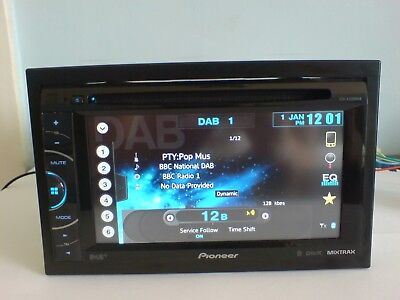 Pioneer Avh-X3500Dab Double Din Car Radio Bluetooth Dab Cd Aux Usb Dvd Player