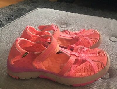 3f03a6a9c4a3 Merrell Girls Hydro Monarch Water Sandal Shoe Neon Coral  Orange Youth Size  2