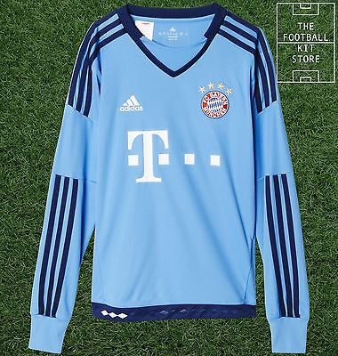 Bayern Munich Goalkeeper Shirt - Official adidas Boys Football Shirt - All Sizes