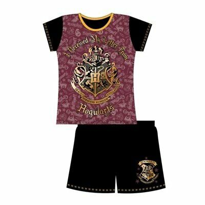 Girls Kids Harry Potter Pyjamas Hogwarts Short Pjs Character Nightwear Age 5-12