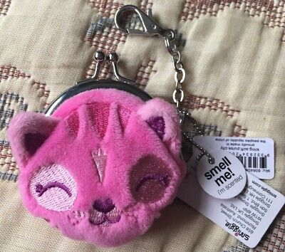 BNWT Smiggle Cat Purse Keyring Pink Scented