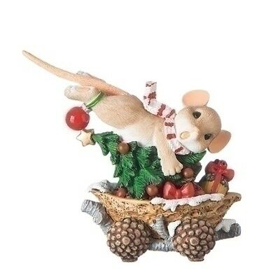 Charming Tails Christmas Mouse In Acorn Train Caboose New 2018 131633