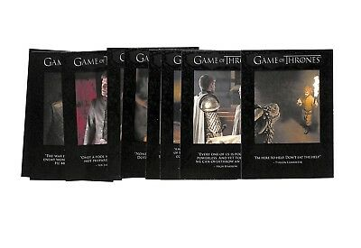 2017 Rittenhouse Game Of Thrones Season 6 Quotable 9 card insert set 51-59