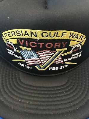f603544b787 new Vtg PERSIAN GULF WAR VICTORY AIR FORC Navy Marines Trucker Mesh  Snapback Hat