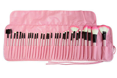 BRAND NEW Professional 32Pcs Kabuki Make Up Brush Set Eye Cosmetic Brushes PINK