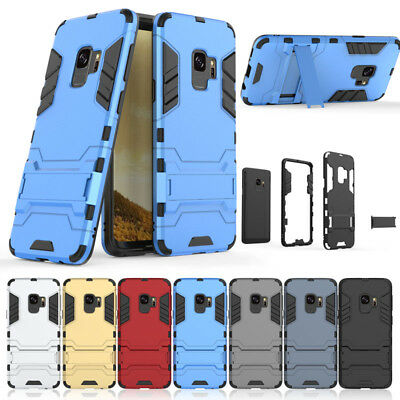 For Samsung Galaxy S9 S8 Plus S7 NOTE 8 5 Rubber Kick Stand Protect Bumper Case