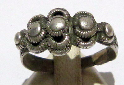 Amazing Medieval Or Post-Medieval Silver Ring With Nice Decoration # 41B
