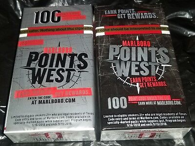 MARLBORO CIGARETTE PACK Points West 100 Point Reward Codes CODE ONLY NO  SHIPPING